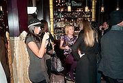 CATHERINE VANAZZI; BRONWEN COSGRAVE, Lauren Goldstein Crowe hosts reception to thank those that particitated in the research for her book: Isabella, A Life in Fashion. The Fumoir. Claridge's. London. 8 November 2010. -DO NOT ARCHIVE-© Copyright Photograph by Dafydd Jones. 248 Clapham Rd. London SW9 0PZ. Tel 0207 820 0771. www.dafjones.com.