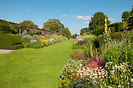 Herbaceous borders in the walled garden at Arley Hall Gardens, Norhtwich, Chesire, UK