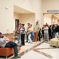 Voters in line at the Cibola County Complex to cast their vote in the mid-term elections, Tuesday Nov. 6. in Grants.