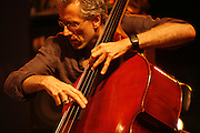 Cimiez-Nice, France. July 24th 2008..Bruno Chevillon performs at the Nice Jazz Festival with the Portal-Humair-Chevillon Trio. .
