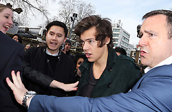 Harry Styles  arriving at the Burberry Prorsum show at London Fashion Week A/W 14, Monday, 17th February 2014. Picture by Stephen Lock / i-Images