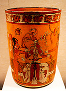Vessel with young corn god.  Guatemala; Maya.  8th-9th century.  Ceramic.