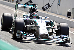 08.09.2014, Autodromo di Monza, Monza, ITA, FIA, Formel 1, Grand Prix von Italien, Renntag, im Bild Lewis Hamilton from Mercedes, winner // during the race day of Italian Formula One Grand Prix at the Autodromo di Monza in Monza, Italy on 2014/09/08. EXPA Pictures © 2014, PhotoCredit: EXPA/ Eibner-Pressefoto/ Cezaro<br /> <br /> *****ATTENTION - OUT of GER*****