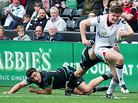 Rugby Union - 2016 / 2017 Guinness Pro12 - Ospreys vs. Ulster<br /> <br /> Jacob Stockdale of Ulster breaks, at Liberty Stadium.<br /> <br /> COLORSPORT/WINSTON BYNORTH