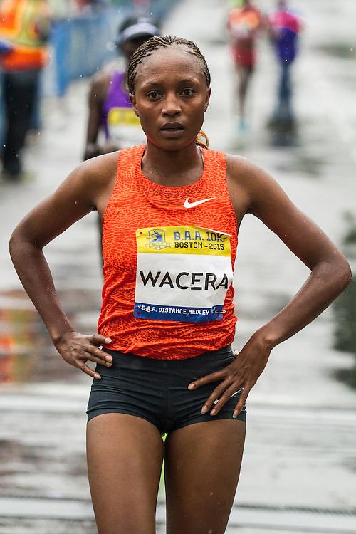 BAA 10K: winner Mary Wacera