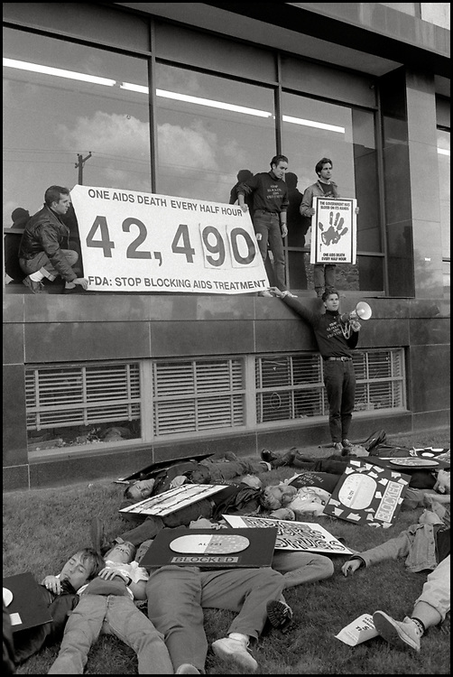 "ACTUP ""SEIZE CONTROL OF THE FDA"" action at the Food and Drug Administration Headquarters in Rockville, Maryland on October 11, 1988"