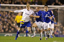 Liverpool, England - Wednesday, December 5, 2007: Everton's Phil Jagielka and Zenit St. Petersburg's Pavel Pogrebnyak during the UEFA Cup Group A match at Goodison Park. (Photo by David Rawcliffe/Propaganda)
