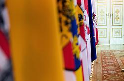 02.05.2018, Bundeskanzleramt, Wien, AUT, Bundesregierung, Pressefoyer nach Sitzung des Ministerrats, im Bild Feature Pressefoyer // Feature Media Briefing during media briefing after cabinet meeting at federal chancellors office in Vienna, Austria on 2018/05/02 EXPA Pictures © 2018, PhotoCredit: EXPA/ Michael Gruber