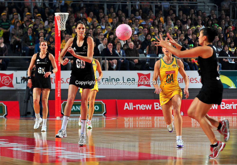 Anna Scarlett (NZ)<br /> 2011 Holden Netball Test Series<br /> Australia vs New Zealand <br />  Sunday 30 October 2011<br /> Hisense Arena/ Melbourne Australia <br /> &copy; Sport the library / Jeff Crow