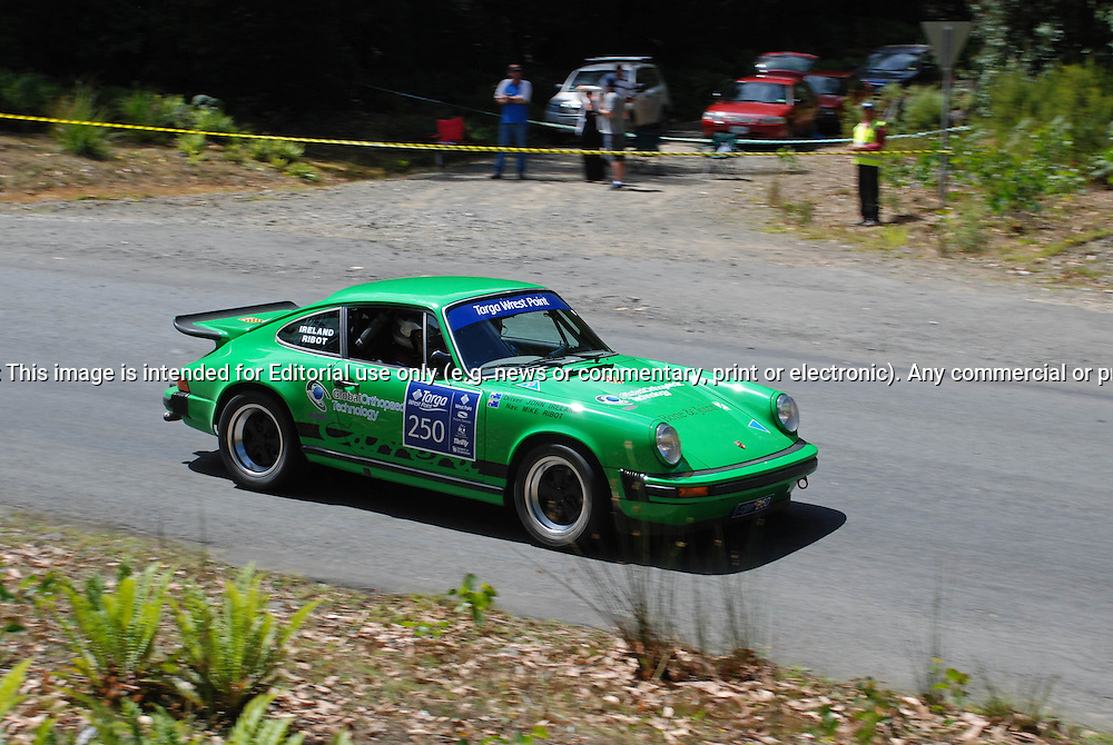 250 John Ireland & Michael Ribot.1977 Porsche 911 Carrera 3.Day 1.Targa Wrest Point 2010.Southern Tasmania.30th of January 2010.(C) Sarah Biggin.Use information: This image is intended for Editorial use only (e.g. news or commentary, print or electronic). Any commercial or promotional use requires additional clearance.