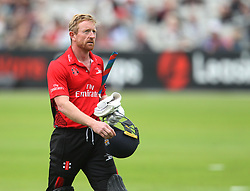 Paul Collingwood of Durham Jets walks off dejected after being caught out by Stephen Parry of Lancashire Lightning (Not Pictured) - Mandatory by-line: Jack Phillips/JMP - 23/07/2017 - CRICKET - Emirates Old Trafford - Manchester, United Kingdom - Lancashire Lightning v Durham Jets - Natwest T20 Blast