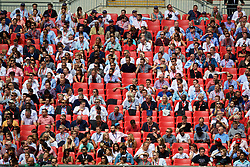 LONDON, ENGLAND - Sunday, August 6, 2017: Empty seats at Club Wembley during the FA Community Shield match between Arsenal and Chelsea at Wembley Stadium. (Pic by David Rawcliffe/Propaganda)