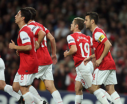 15.09.2010, Emirates Stadium, London, ENG, UEFA CL, Arsenal fc vs Sporting Braga, im Bild Arsenal's Cesc Fabregas (captain) celebrates his goal on penalty  during Arsenal fc vs Sporting Braga for the UCL  Group  H at the Emirates Stadium in London. EXPA Pictures © 2010, PhotoCredit: EXPA/ IPS/ Marcello Pozzetti +++++ ATTENTION - OUT OF ENGLAND/UK +++++ / SPORTIDA PHOTO AGENCY