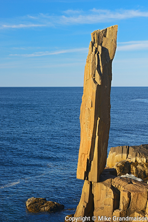 The 'Balancing Rock' on  St. Mary's Bay, Near Tiverton on Long Island on the Digby Neck, Nova Scotia, Canada