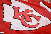 KANSAS CITY, MO - SEPTEMBER 10:  Flags of the Kansas City Chiefs waving in the wind during a game against the Cincinnati Bengals on September 10, 2006 at Arrowhead Stadium in Kansas City, Missouri.  The Bengals won 23 to 10.  (Photo by Wesley Hitt/Getty Images)***Local Caption***Kansas City Chiefs