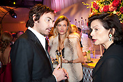 SARA BRAJOVIC; BIANCA JAGGER, Evgeny Lebedev and Graydon Carter hosted the Raisa Gorbachev charity Foundation Gala, Stud House, Hampton Court, London. 22 September 2011. <br /> <br />  , -DO NOT ARCHIVE-© Copyright Photograph by Dafydd Jones. 248 Clapham Rd. London SW9 0PZ. Tel 0207 820 0771. www.dafjones.com.