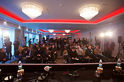 CARDIFF, WALES - Monday, January 15, 2018: Media await the new Wales national team manager Ryan Giggs ahead of a press conference to announce his appointment at the Hensol Castle. (Pic by David Rawcliffe/Propaganda)