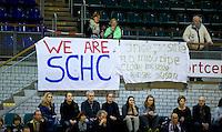 ROTTERDAM - Spandoek SCHC. NK Zaalhockey hoofdklasse. FOTO KOEN SUYK