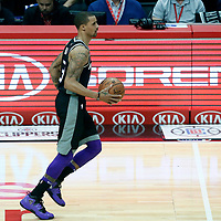26 December 2017: Sacramento Kings guard George Hill (3) brings the ball up court during the LA Clippers 122-95 victory over the Sacramento Kings, at the Staples Center, Los Angeles, California, USA.