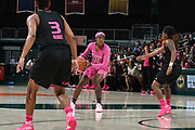 February 11, 2018: Imani Wright #32 of Florida State in action during the NCAA basketball game between the Miami Hurricanes and the Florida State Seminoles in Coral Gables, Florida. The Seminoles defeated the 'Canes 91-71.