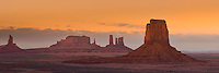 Mittens formation at the Monument Valley Navajo Tribal Park, Arizona.