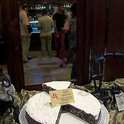 Panforte Margherita in shop window, Siena, Italy<br />