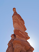 Morning view of the Hopi Clown, a Moenave Sandstone formation in the Adeii Echii Cliffs of Coconino County, Arizona.