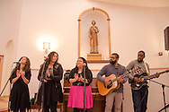 "Jan. 25, 2014 Piscataway USA // A youth music group called ""New Name"" performs at the New Jersey Catholic Young Adult Conference1"