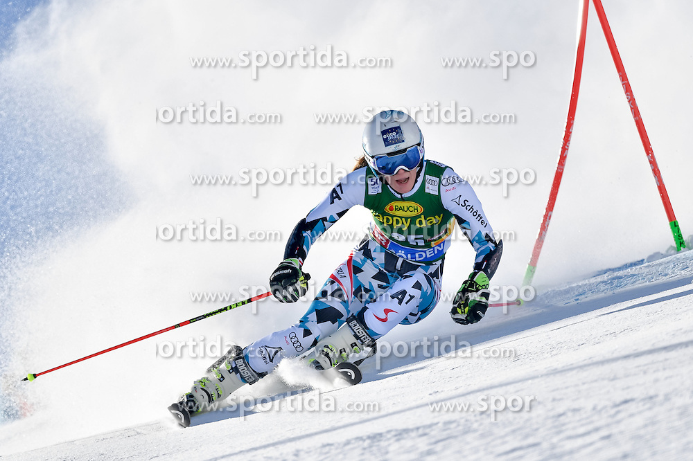 22.10.2016, Rettenbachferner, Soelden, AUT, FIS Weltcup Ski Alpin, Soelden, Riesenslalom, Damen, 1. Durchgang, im Bild Carmen Thalmann (AUT) // Carmen Thalmann of Austria in action during 1st run of ladies Giant Slalom of the FIS Ski Alpine Worldcup opening at the Rettenbachferner in Soelden, Austria on 2016/10/22. EXPA Pictures &copy; 2016, PhotoCredit: EXPA/ Nisse Schmid<br /> <br /> *****ATTENTION - OUT of SWE*****