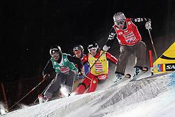 Filip Flisar of Slovenia at FIS World Cup Ski cross race, on January 5, 2009 in St. Johann, Austria. (Photo by Grega Stopar)