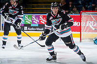 KELOWNA, CANADA - OCTOBER 24: Rodney Southam #17 of Kelowna Rockets skates against the Calgary Hitmen on October 24, 2015 at Prospera Place in Kelowna, British Columbia, Canada.  (Photo by Marissa Baecker/Shoot the Breeze)  *** Local Caption *** Rodney Southam;