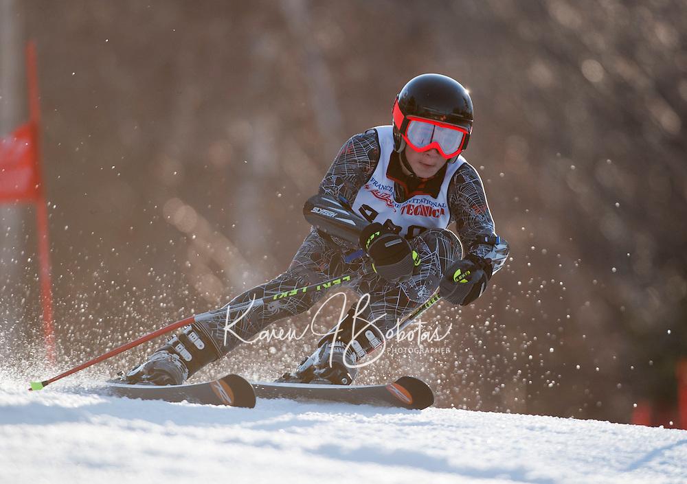 2nd run of the Piche Invitational alpine race at Gunstock Mountain Resort  March 19, 2011.