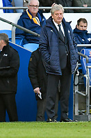 Football - 2018 / 2019 Premier League - Cardiff City vs. Crystal Palace<br /> <br /> Crystal Palace manager Roy Hodgson on the touchline, at Cardiff City Stadium.<br /> <br /> COLORSPORT/WINSTON BYNORTH