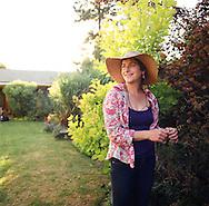 Suzinn Weiss in her NE Portland garden.