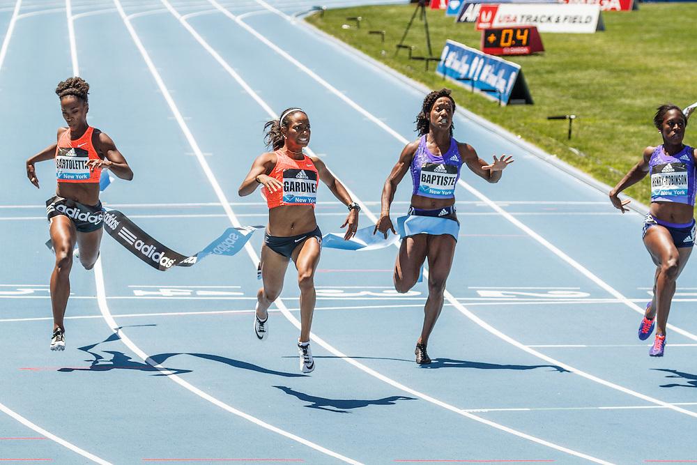 adidas Grand Prix Diamond League Track & Field: Womens 100m, English Gardner, USA