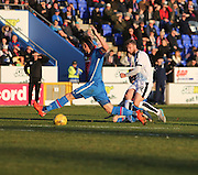 Dundee's Rory Loy fires a shot just wide - Inverness Caledonian Thistle v Dundee at Caledonian Stadium, Inverness<br /> <br />  - © David Young - www.davidyoungphoto.co.uk - email: davidyoungphoto@gmail.com