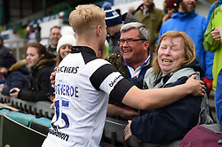 Matt Protheroe of Bristol Bears with the crowd - Mandatory byline: Patrick Khachfe/JMP - 07966 386802 - 27/04/2019 - RUGBY UNION - Welford Road - Leicester, England - Leicester Tigers v Bristol Bears - Gallagher Premiership Rugby