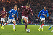 Andy Irving of Hearts during the Betfred Scottish League Cup semi-final match between Rangers and Heart of Midlothian at Hampden Park, Glasgow, United Kingdom on 3 November 2019.