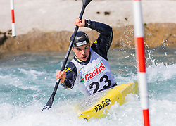 Oplotnik Luka (BD Steklarna Hrastnik / Slovenia) during ICF Canoe Slalom Ranking Race Tacen 2018, on April 8, 2018 in Ljubljana, Slovenia. Photo by Urban Meglic / Sportida
