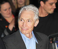 LONDON - OCTOBER 18: Charlie Watts attended the screening of 'Crossfire Hurricane' at the Odeon, Leicester Square, London, UK. October 18, 2012. (Photo by Richard Goldschmidt)