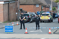 ©Licensed to London News Pictures 08/03/2020<br /> Sevenoaks, UK. Police at the scene where a body was found in the Bat and Ball area of Sevenoaks in Kent, Police are standing guard while a number of forensic officers work at the scene.  Photo credit: Grant Falvey/LNP
