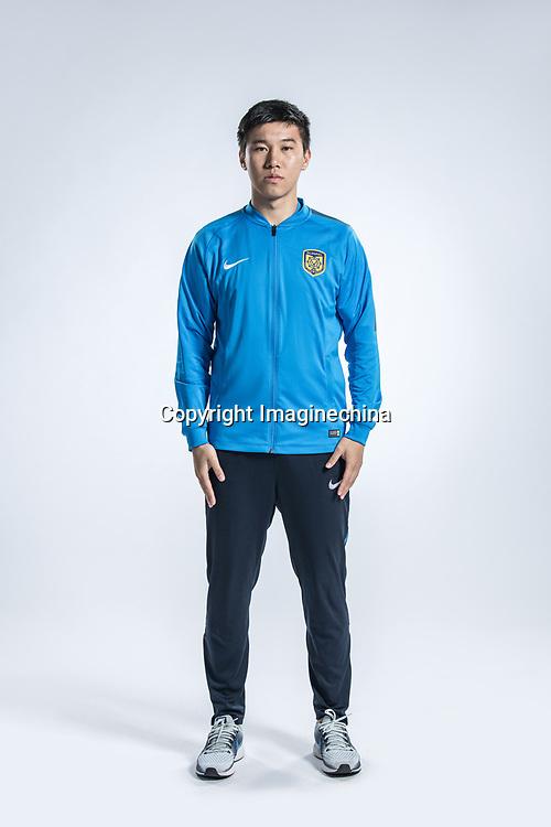**EXCLUSIVE**Portrait of Chinese soccer player Yang Jiawei of Jiangsu Suning F.C. for the 2018 Chinese Football Association Super League, in Nanjing city, east China's Jiangsu province, 23 February 2018.