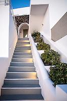 Hotel staircase, Imerovigli, Santorini, Greece