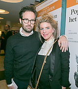 2017-12-12. Stadsschouwburg Utrecht. Premiere van het toneelstuk Hendrik Groen. Op de foto Rosa Reuten en Guy Clemens