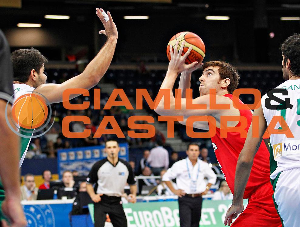 DESCRIZIONE : Panevezys Lithuania Lituania Eurobasket Men 2011 Preliminary Round Spagna Portogallo Spain Portugal<br /> GIOCATORE : Rudy Fernandez<br /> SQUADRA : Spagna Spain<br /> EVENTO : Eurobasket Men 2011<br /> GARA : Spagna Portogallo Spain Portugal <br /> DATA : 01/09/2011 <br /> CATEGORIA : palleggio<br /> SPORT : Pallacanestro <br /> AUTORE : Agenzia Ciamillo-Castoria/L.Kulbis<br /> Galleria : Eurobasket Men 2011 <br /> Fotonotizia : Panevezys Lithuania Lituania Eurobasket Men 2011 Preliminary Round Spagna Portogallo Spain Portugal<br /> Predefinita :