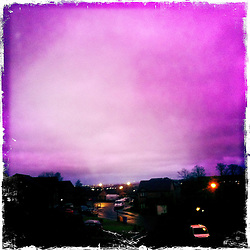Nigh sky, Falkirk..Hipstamatic images taken on an Apple iPhone..©Michael Schofield.