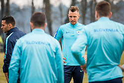 Jasmin Kurtic during Press conference and official training of Slovenian national football team before friendly match against Belarus, on March 26, 2018 in National Football Centre, Brdo pri Kranju, Kranj, Slovenia. Photo by Ziga Zupan / Sportida