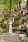 Mausoleums at Père Lachaise Cemetery, Paris, France