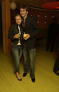 David Tennant and Sophie Myles, After party for 'Otherwise Engaged' which opened at the Criterion Theatre. London at Cocoon. Air St. 31 October 2005. ONE TIME USE ONLY - DO NOT ARCHIVE © Copyright Photograph by Dafydd Jones 66 Stockwell Park Rd. London SW9 0DA Tel 020 7733 0108 www.dafjones.com