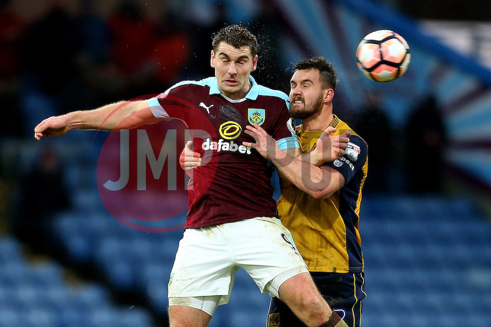 Sam Vokes of Burnley and Bailey Wright of Bristol City - Mandatory by-line: Matt McNulty/JMP - 28/01/2017 - FOOTBALL - Turf Moor - Burnley, England - Burnley v Bristol City - Emirates FA Cup fourth round